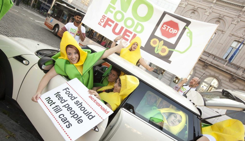 'Feed people not cars' biofuels protest