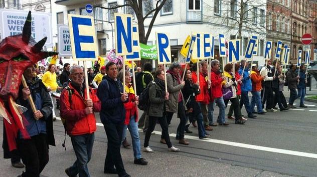 German protests fuel energy revolution