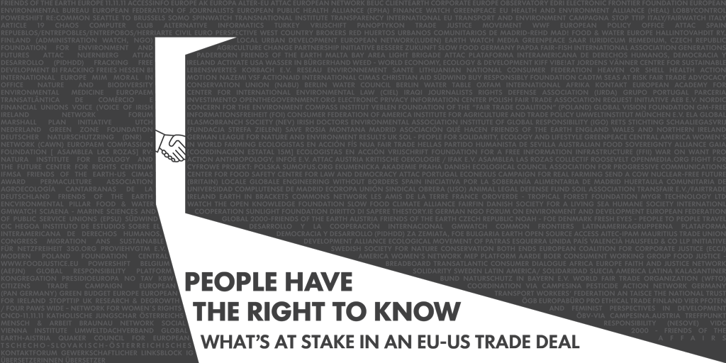 EU-US trade talks – people have the right to know