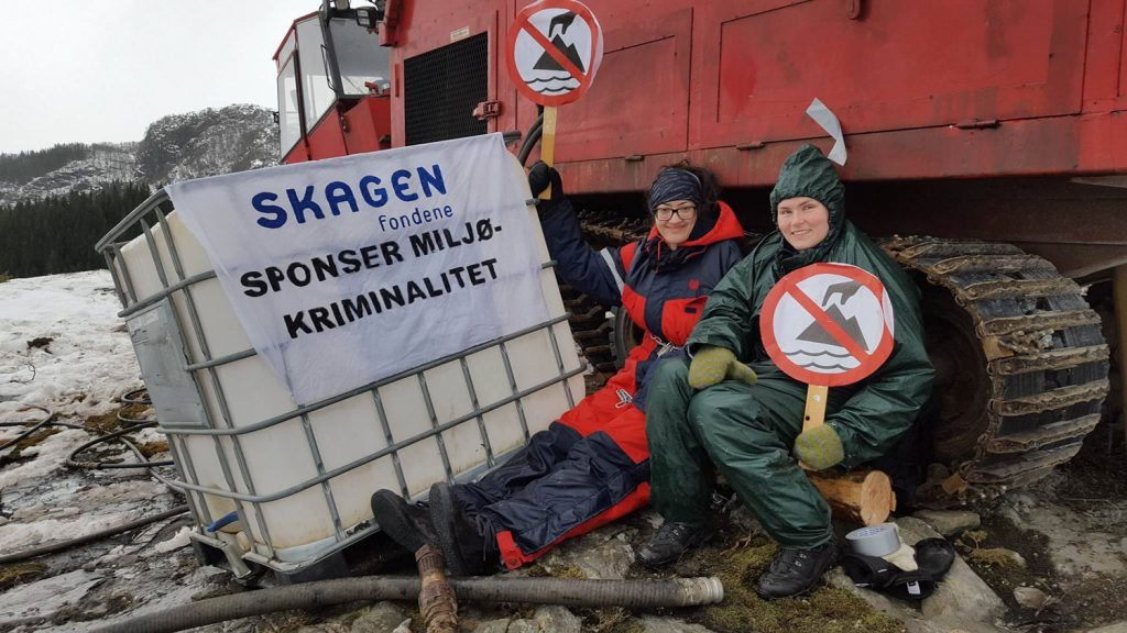 Activists blockade mine site over threat to pristine fjord