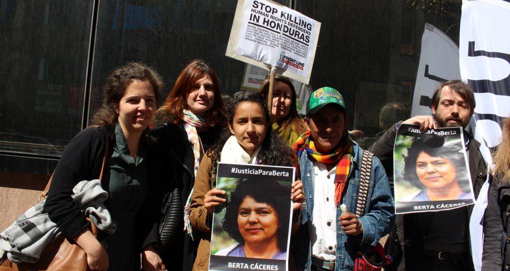 COPINH activists call on EU to stop Honduran aid