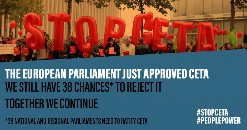 CETA: backward step for the environment, global inequalities and workers' rights