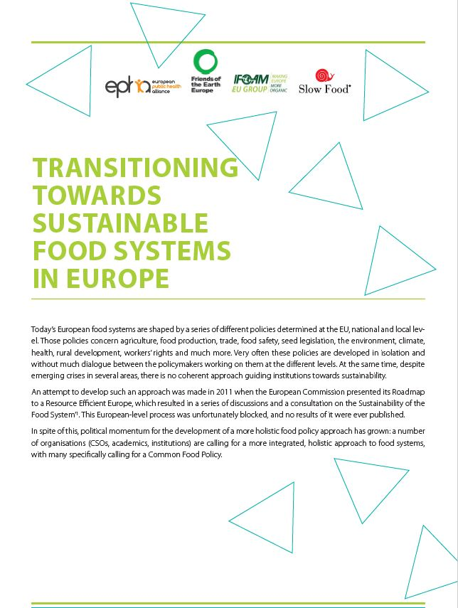 transitioning towards sustainable food cover