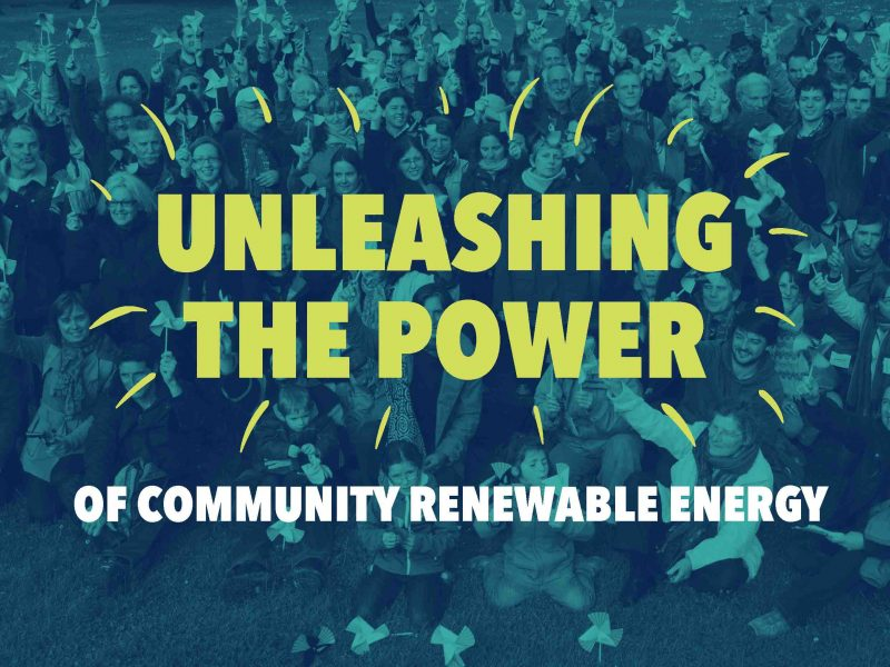 Unleashing the power of community renewable energy - front cover