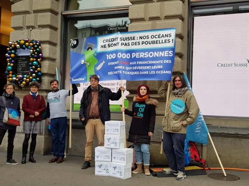 Credit Suisse - stop financing toxic dumping in fjords