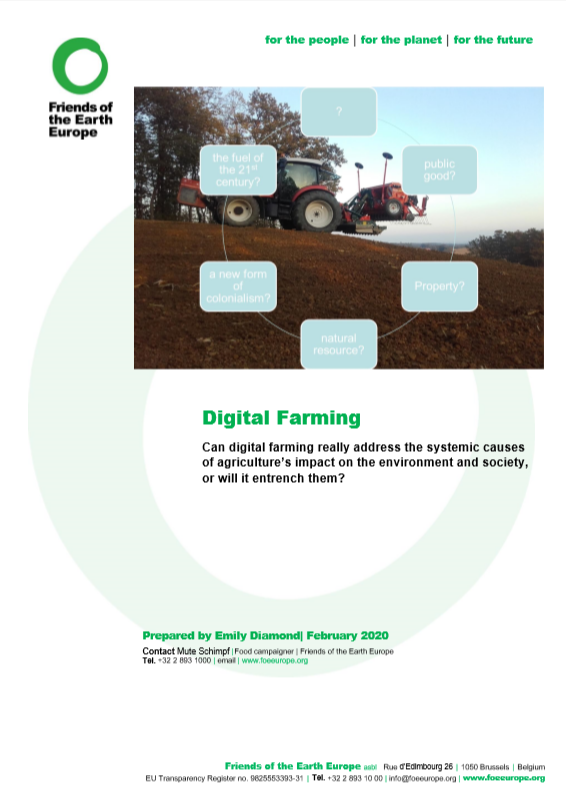 Position paper - digital farming