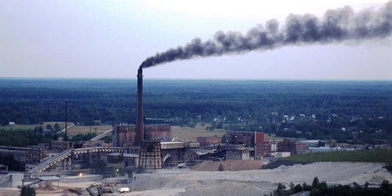 Oil shale processing plant in Estonia