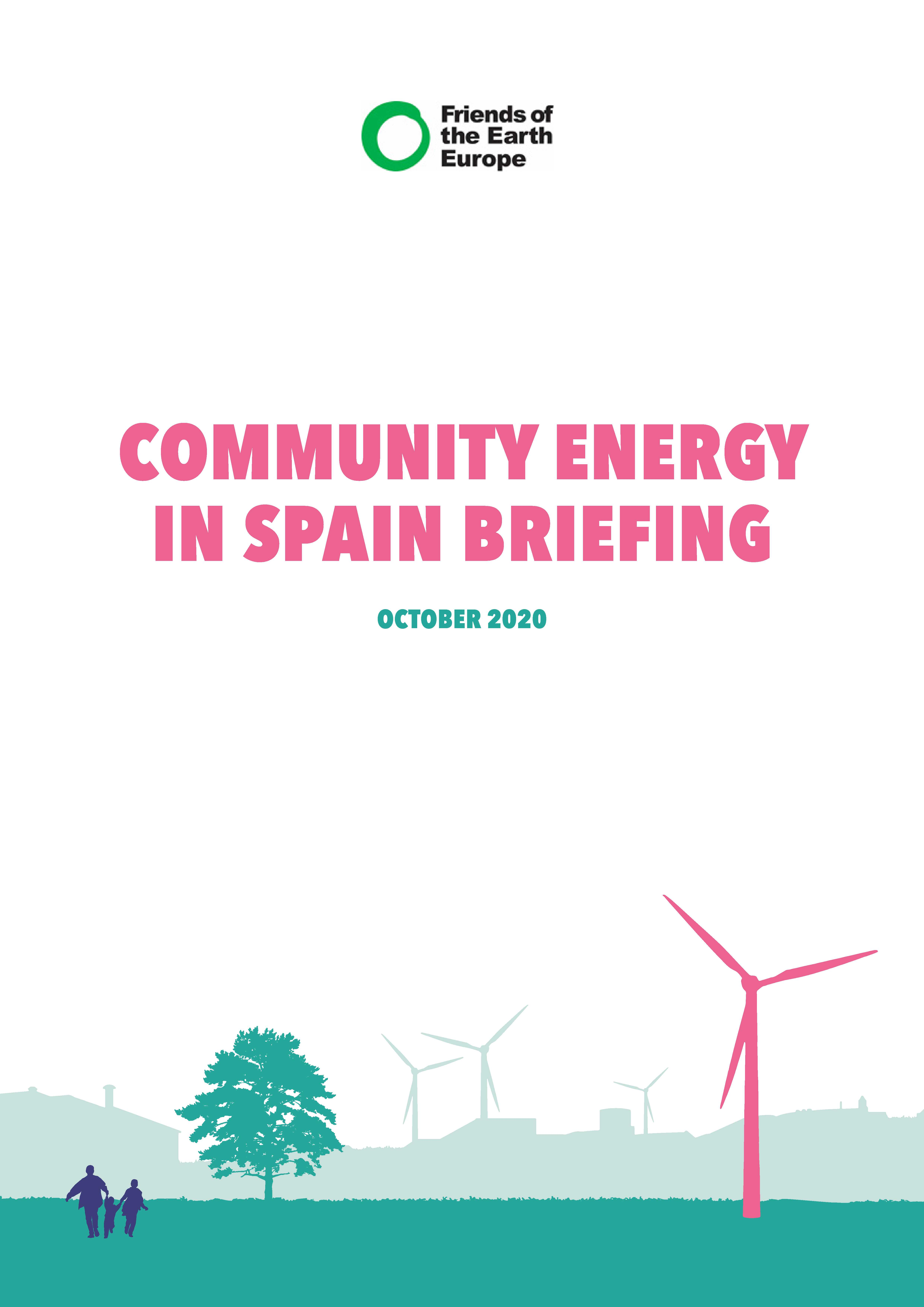 Community energy in Spain - front page of briefing