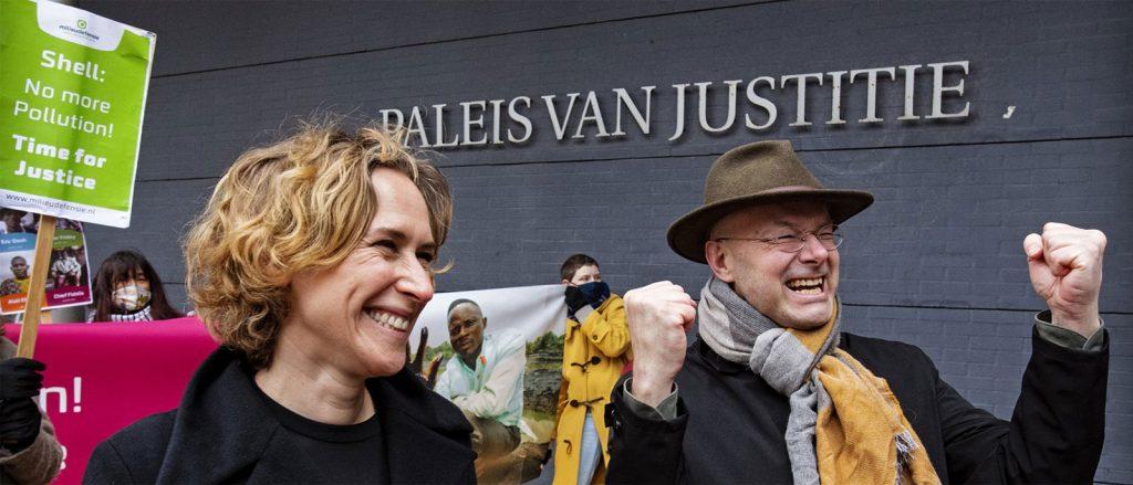 Milieudefensie celebrate winning Shell court case (c) Milieudefensie/Friends of the Earth Netherlands