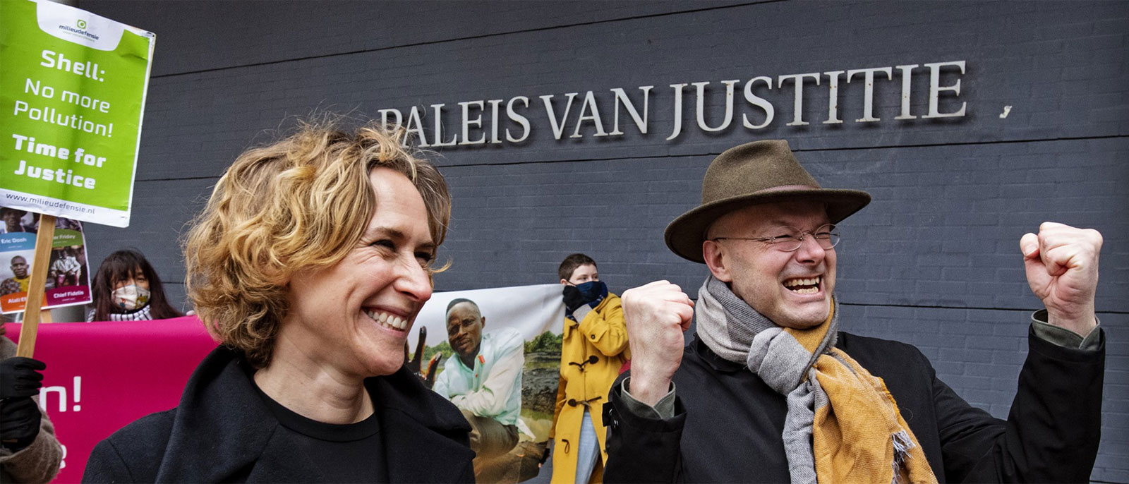 Milieudefensie celebrate winning Shell court case (c) Milieudefensie/Friends of the Earth Netherlands