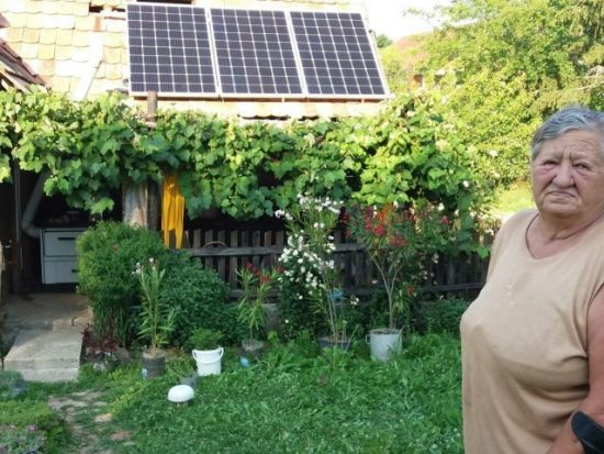 Solar panels on the house of Mara Stanić from the village of Čakale (Zelena akcija /FoE Croatia)