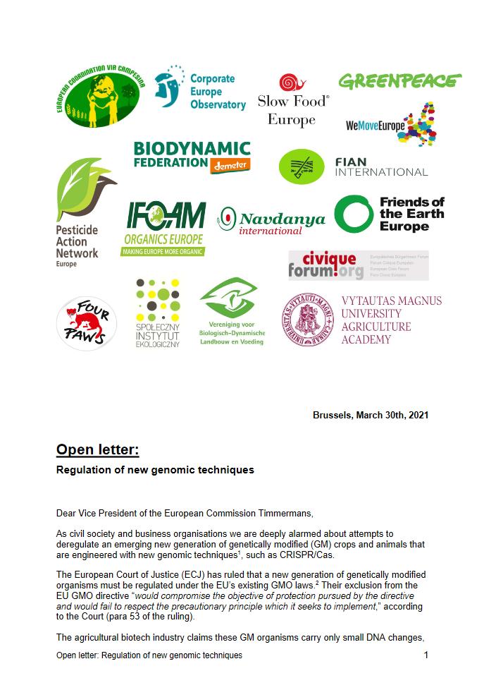 GMO letter cover