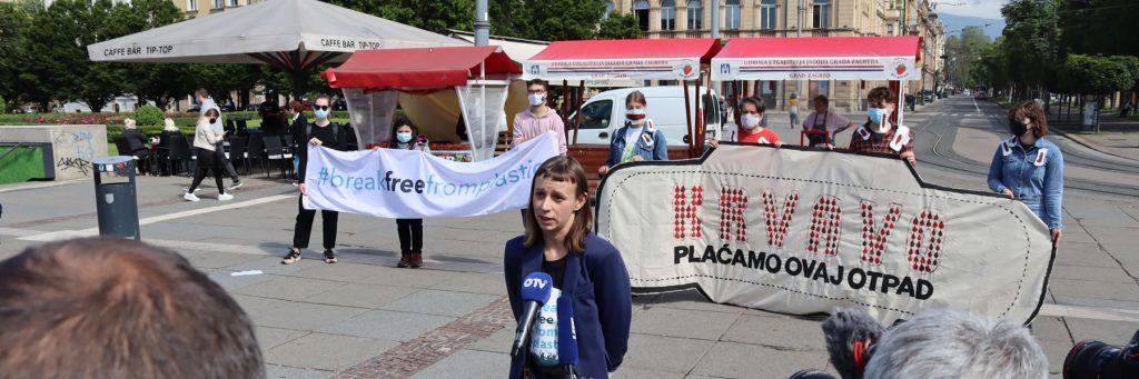 Period poverty action in Croatia (c) Zelena Akcija