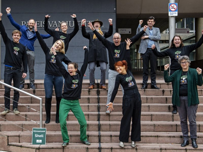 Celebrating the climate case win over Shell
