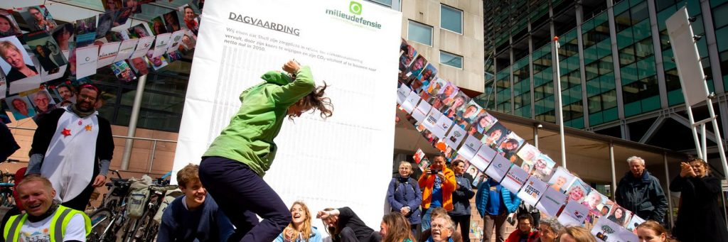 Activists outside the court after the Shell ruling (c) Milieudefensie / Friends of the Earth Netherlands