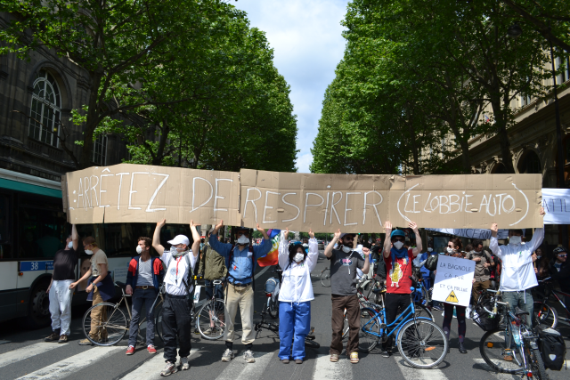 Action against air pollution in Paris on 1 June 2013
